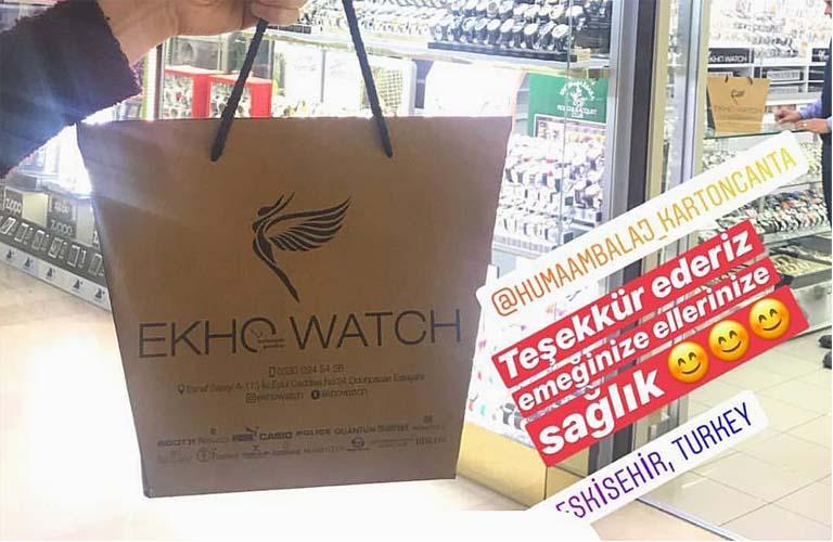 EkHo Watch Karton Çanta Modeli – Eskişehir