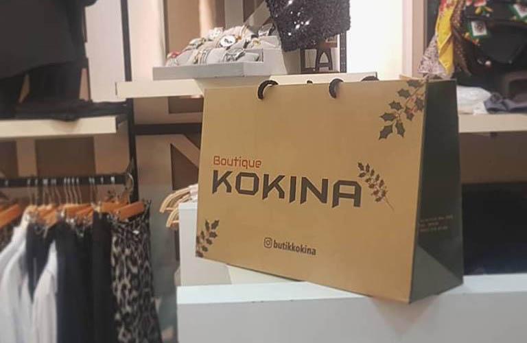 Boutique Kokina Giyim Karton Çanta Modeli – Bayraklı İzmir