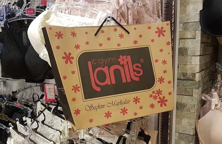 Lanils İç Giyim Karton Çanta Modeli – Denizli
