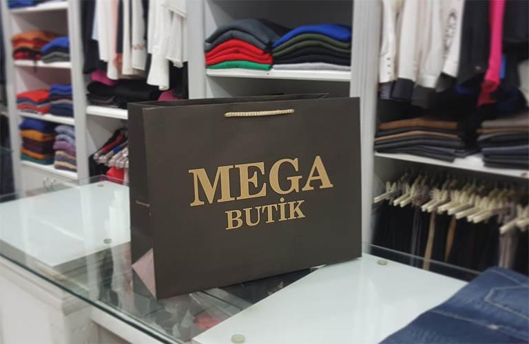 Mega Butik Karton Çanta Modeli – Ödemiş
