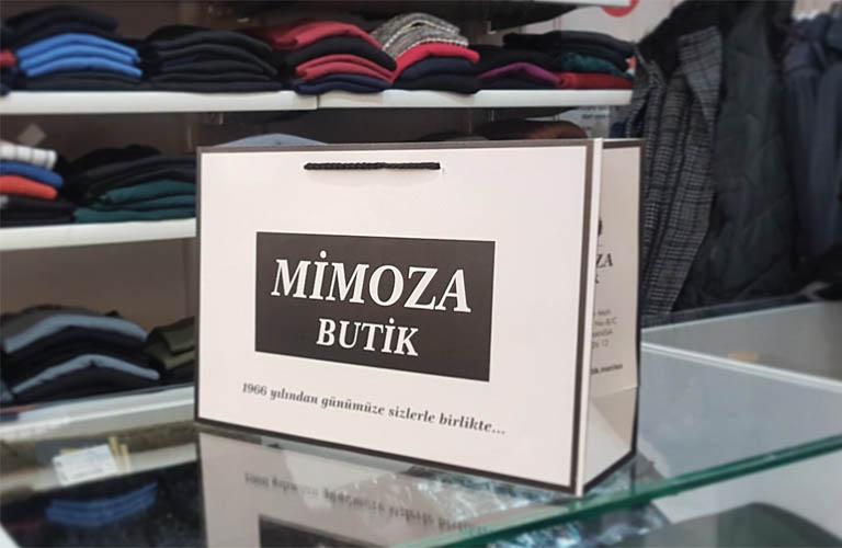 Mimoza Butik Karton Çanta Modeli – Manisa