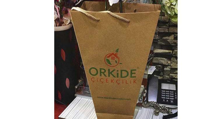 Orkide Çiçekçilik Karton Çanta Modeli – Mardin