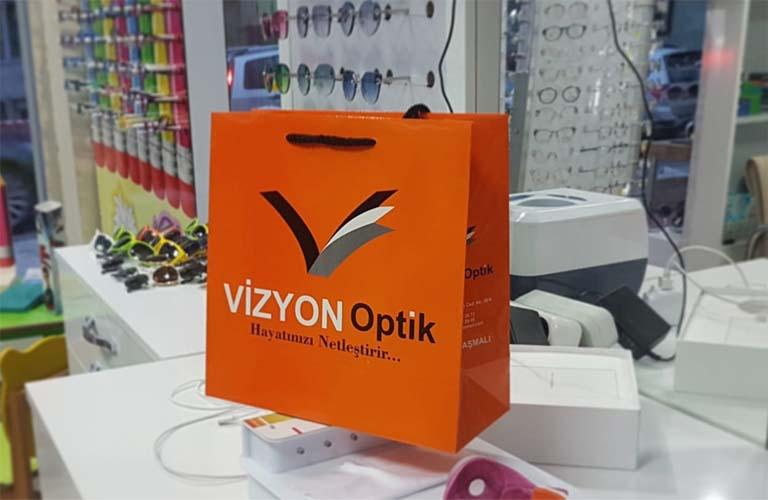 Vizyon Optik Karton Çanta Modeli – Uşak