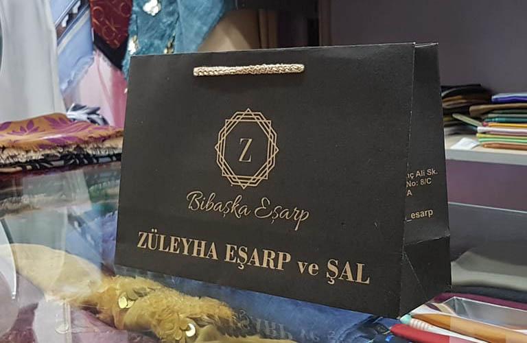 Züleyha Eşarp ve Şal Karton Çanta Modeli – Kütahya